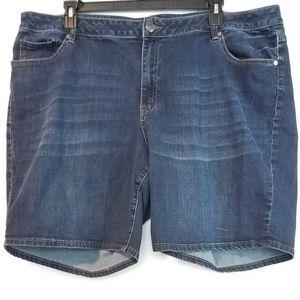 26 Lane Bryant Bermuda Denim Shorts